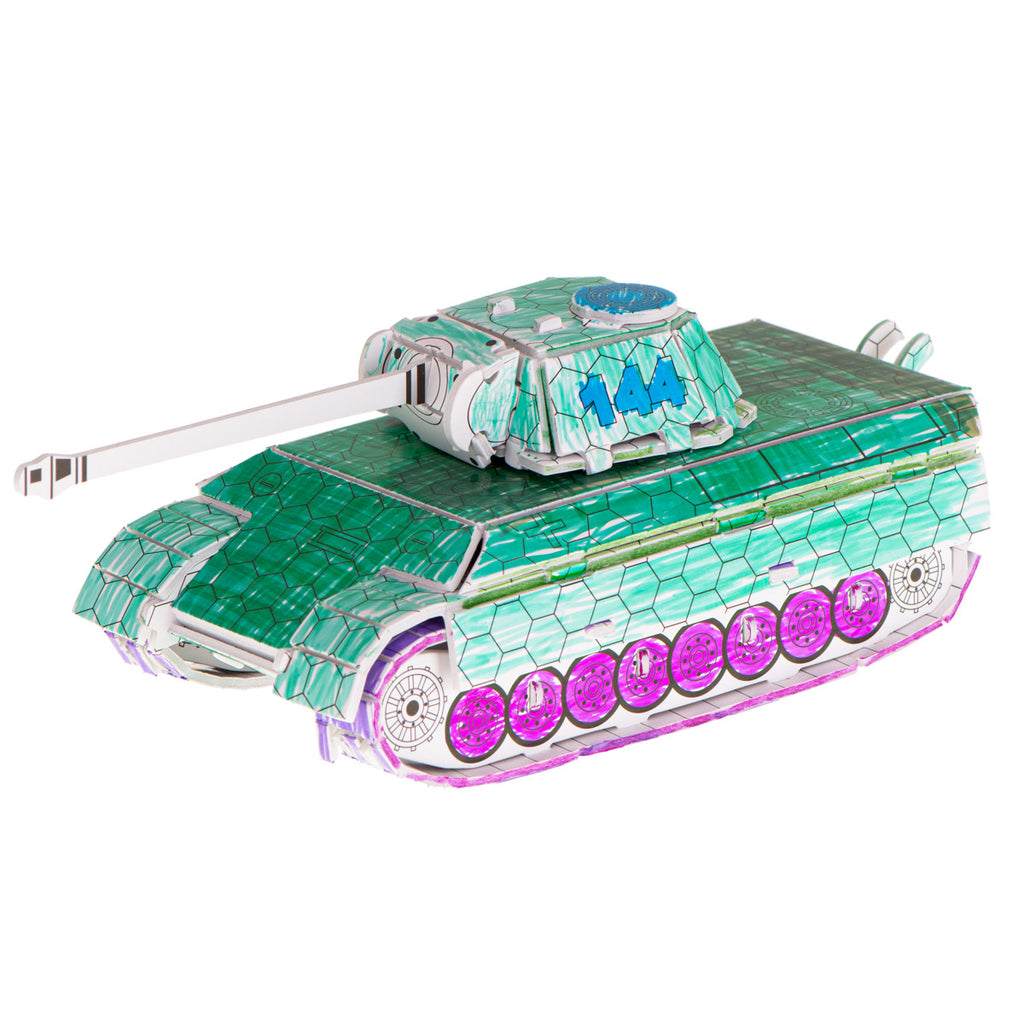 Tank Colouring 3D Puzzle 37 pcs