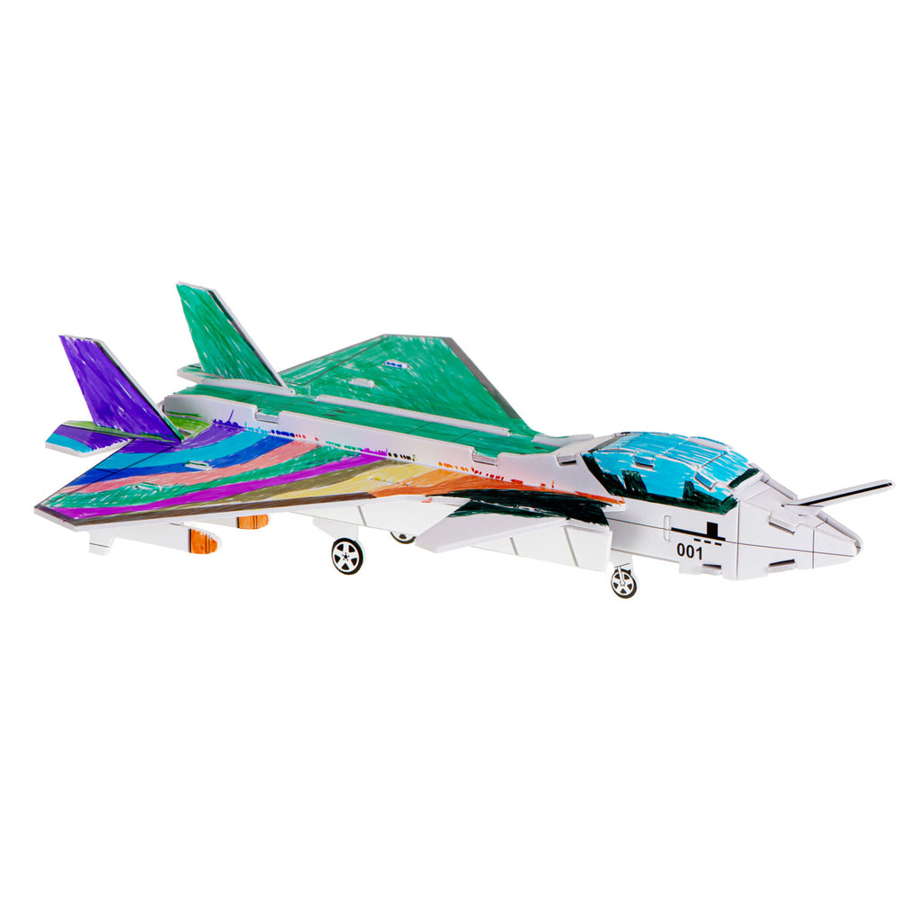 Jet Colouring 3D Puzzles 28 pcs