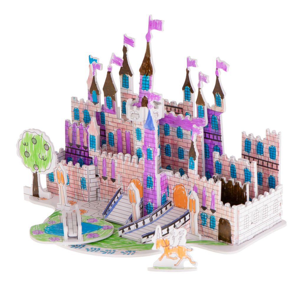 Castle Colouring 3D Puzzles 38 pcs