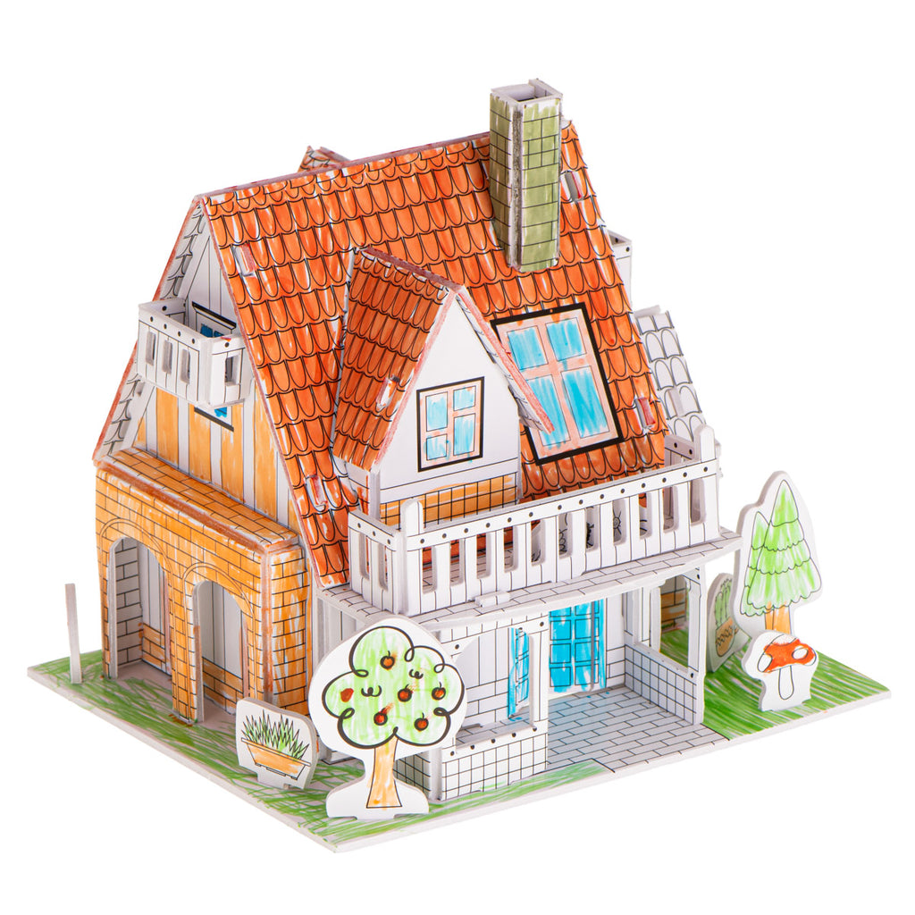 House Colouring 3D Puzzles 29 pcs
