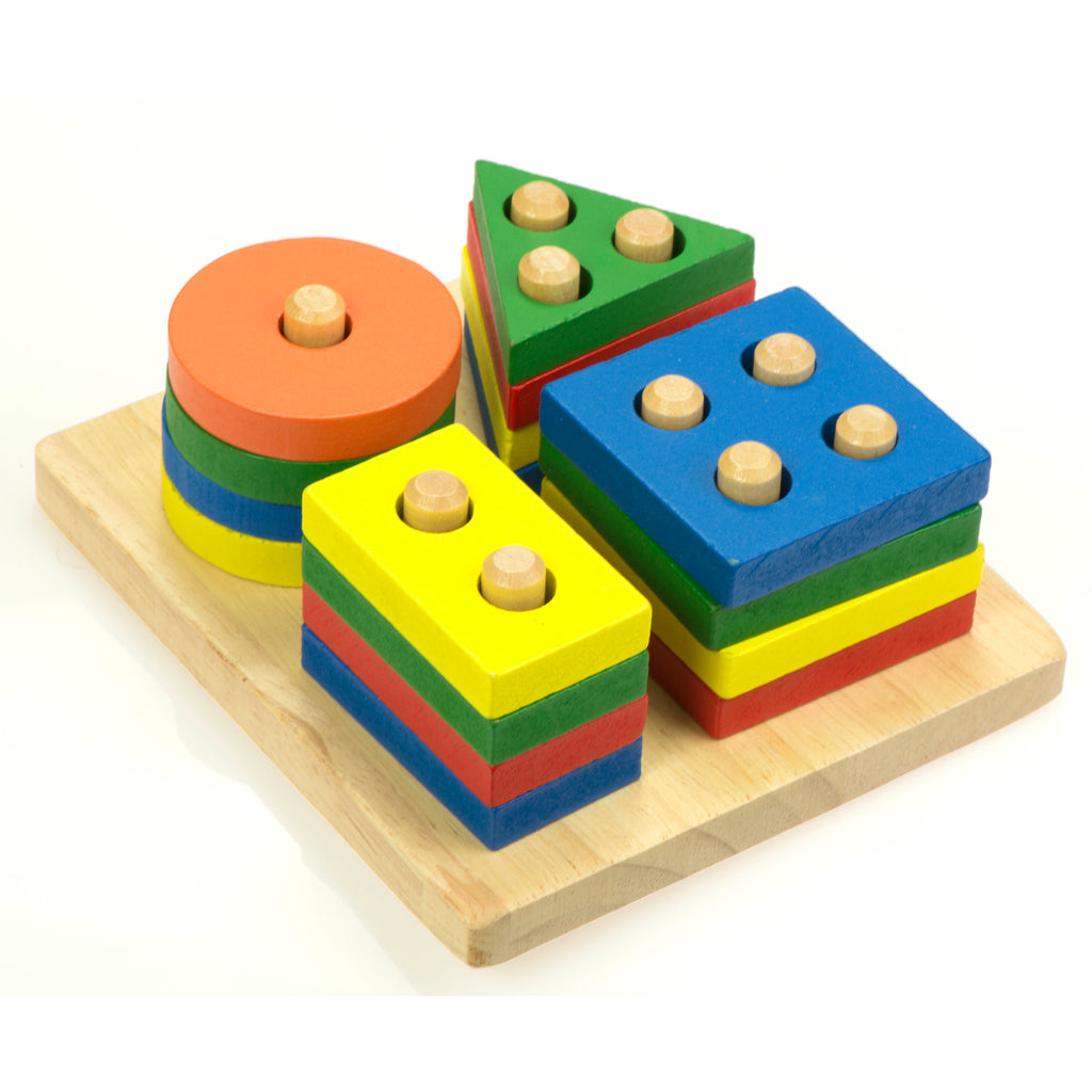 Wooden Sorter Towers - Montessori Style Toys
