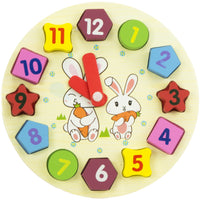 Wooden Clock Sorter Toy