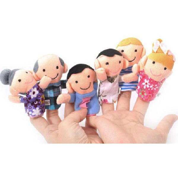 Finger puppets - Family 6 pcs