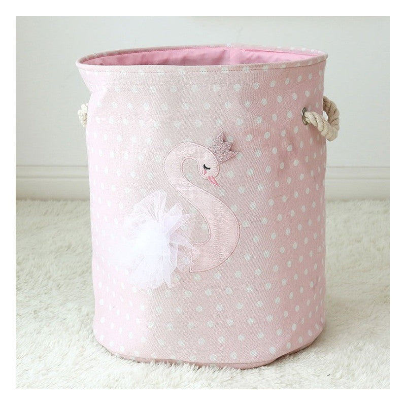 Toy storage bin - swan princess