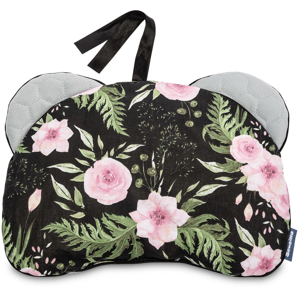 Sensillo Pram - Stroller Pillow - black & flowers
