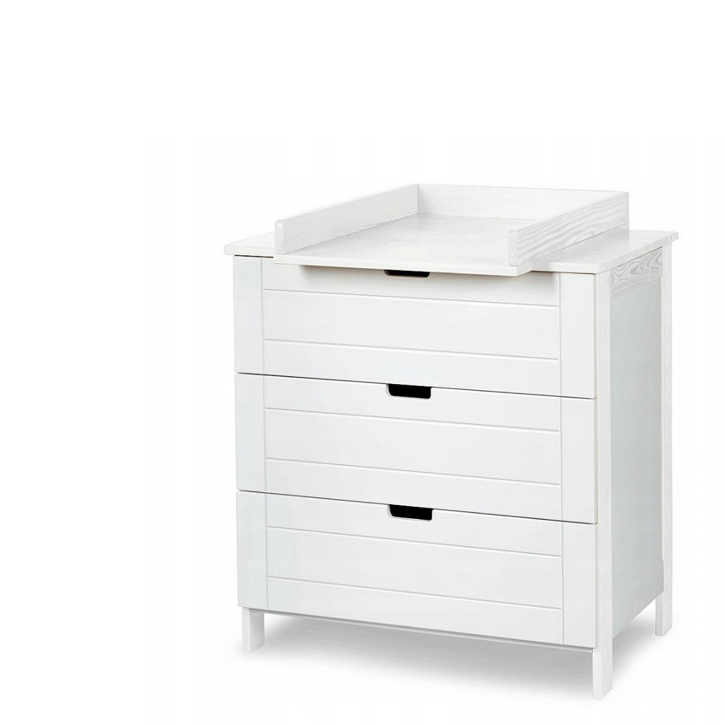Iwo chest of drawers & changer - White