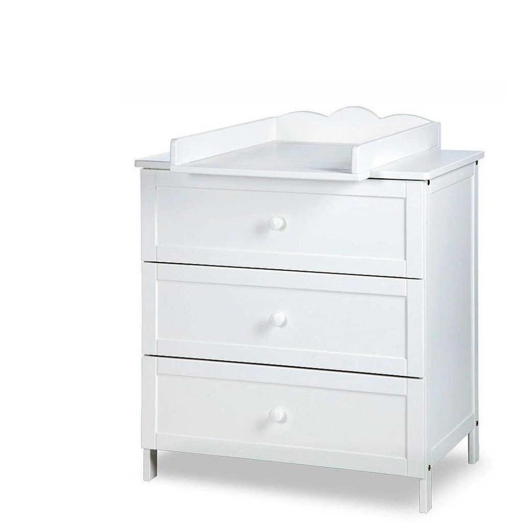 Oliver chest of drawers & changer - White