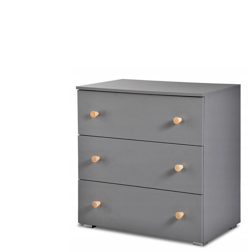 Paula Chest of drawers & changer- Grey