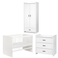 Amelia Set (Cot bed + chest of drawers with a changer + wardrobe)
