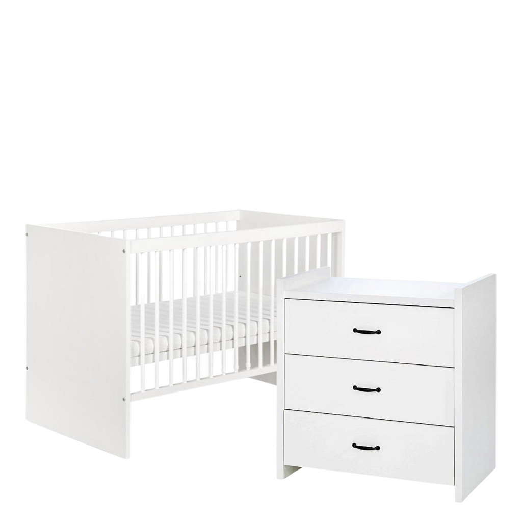 Amelia Small Set (Cot bed + chest of drawers with a changer)