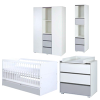 Dalia Big Set (Cot bed 140x70 with a drawer + Chest of drawers with a changer + Bookcase + Wardrobe)