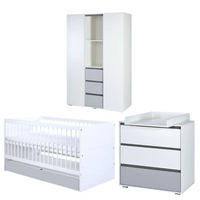 Dalia Set (Cot bed 140x70 with a drawer + Chest of drawers with a changer + Wardrobe)