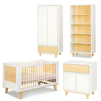 Lydia Big Set (Cot Bed 140x70 + Chest of drawers with a changer + Bookcase + Wardrobe)