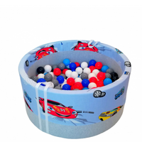 Ball pit + 200 pcs mix colour balls - Cars