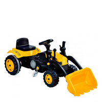 WOOPIE Big Pedal Tractor Yellow Bulldozer