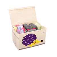 Large Toy Storage Box With Lid - Hedgehog