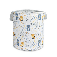 Sensillo Double - Sided Cotton Storage Bin - Blue Forest