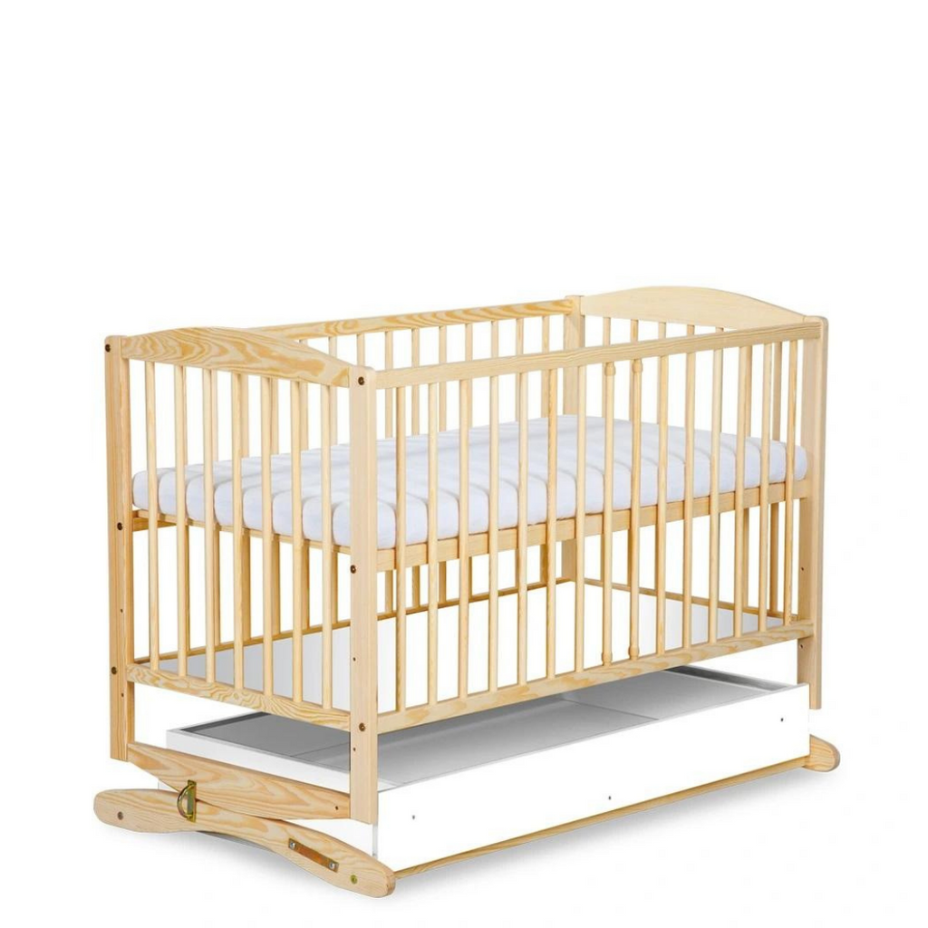 Henry Baby Cradle - A Baby Cot With A Drawer - pine