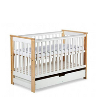 Iwo Cot Bed + Drawer Convertible Into A Toddler Bed - Available In 2 Colours