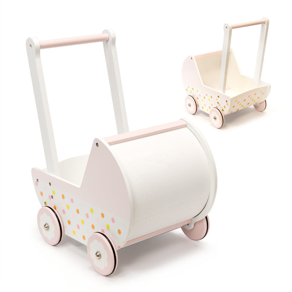 Wooden Doll Pram Push Toy