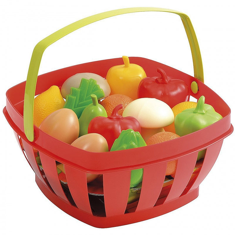 Smoby Ecoiffier - Red Basket With Fruit & Vegetables