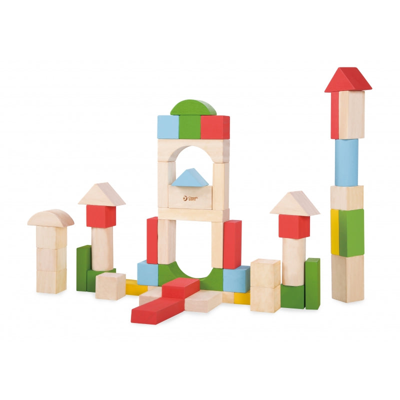 CLASSIC WORLD Junior Wooden Blocks - 50 pcs