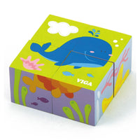 Viga Wooden Puzzle - Ocean Animals