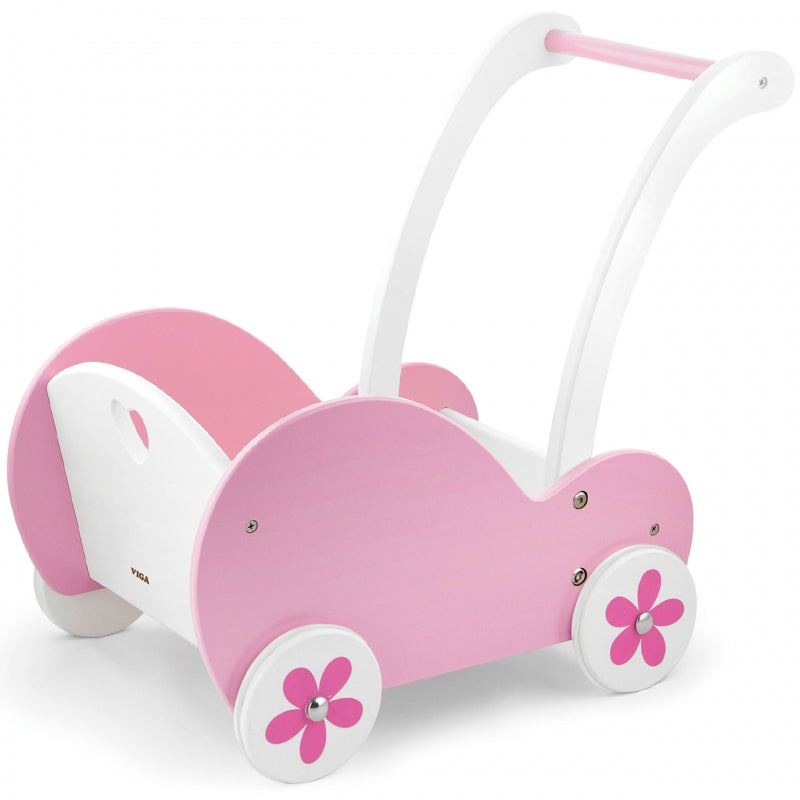 Viga Wooden Doll Buggy - Pink