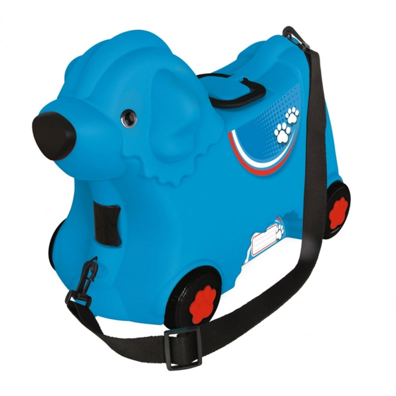 BIG Bobby Trolley Suitcase, Doggy - Blue