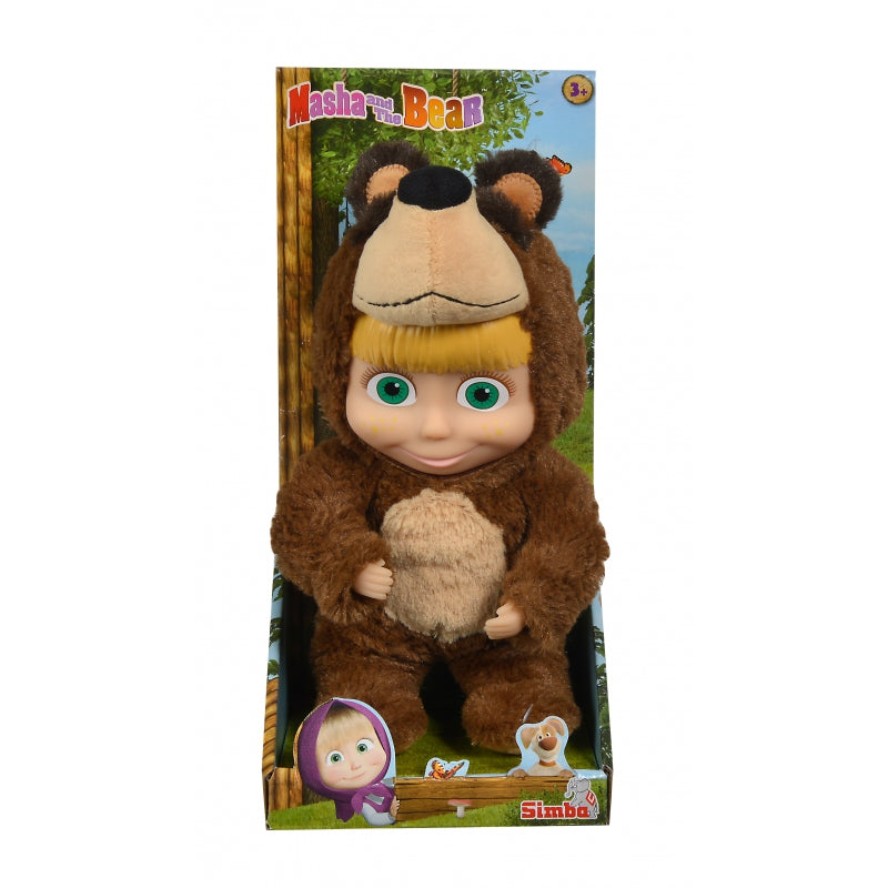 SIMBA Masha Doll Dressed as Misha Bear - 25cm