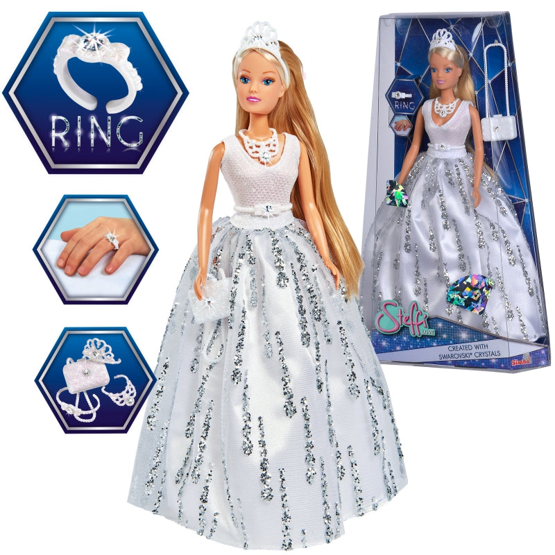 SIMBA Steffi Doll Wedding Dress With SWAROVSKI Crystals