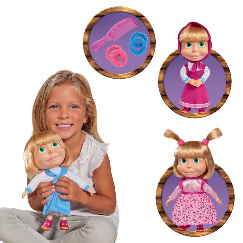 SIMBA Interactive Masha Doll With Dresses