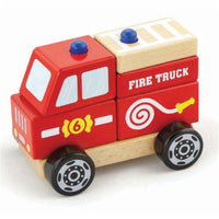 Viga Wooden Fire Truck With Blocks