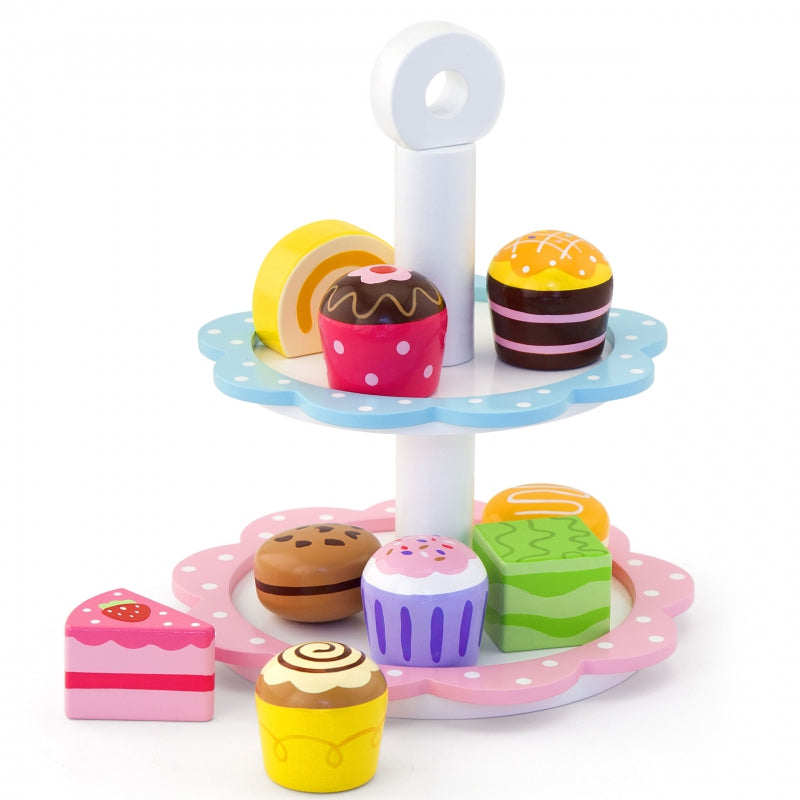 Viga - Wooden Cupcakes On A Cake Stand