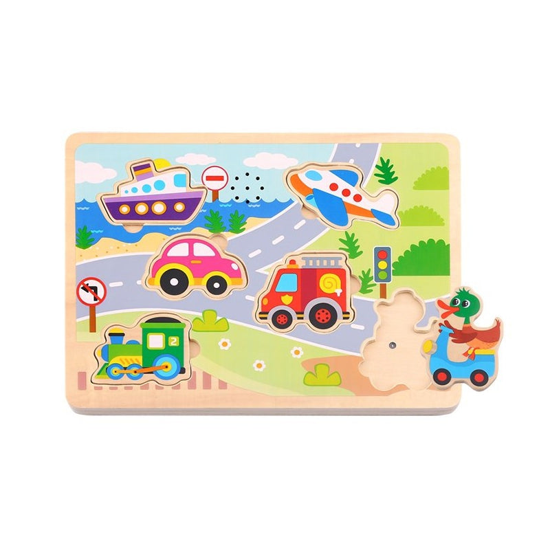 TOOKY TOY Vehicles Jigsaw Puzzle With Sounds