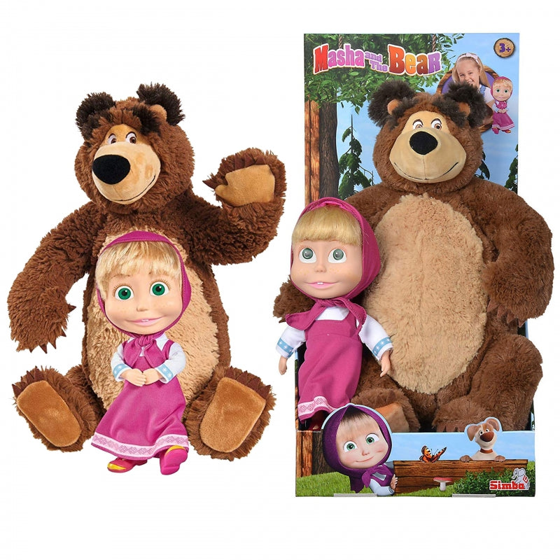 Simba 2 in 1 Doll Masha & Plush Bear Misha Set