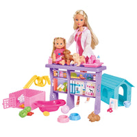 SIMBA Steffi And Evi Vet Clinic Playset