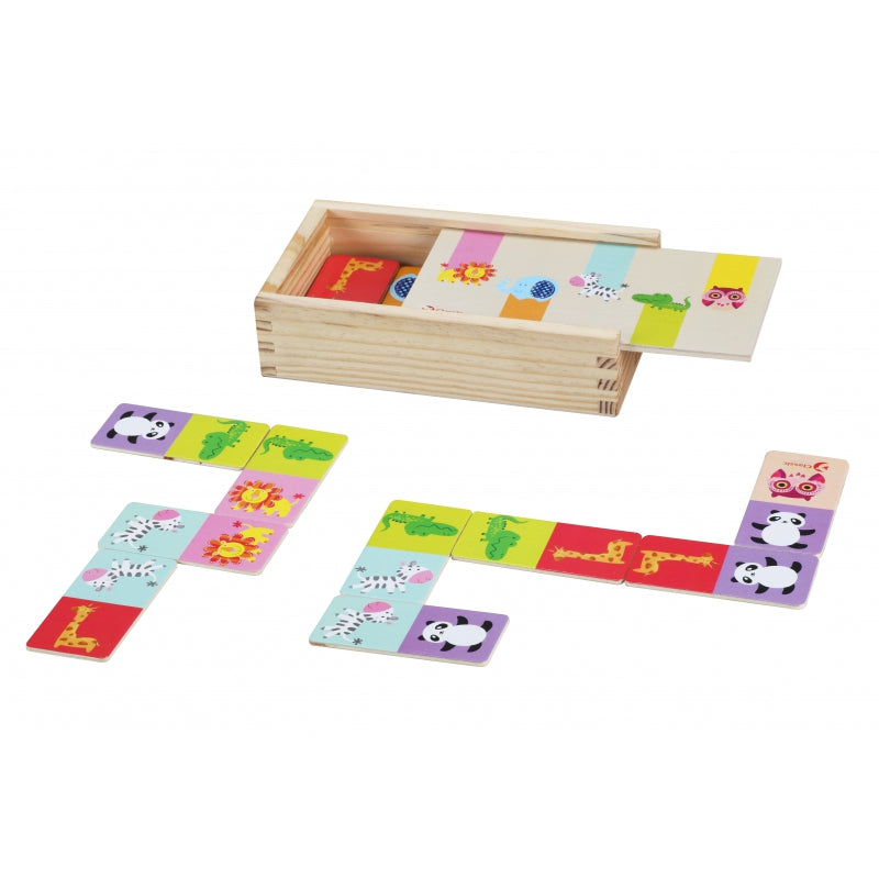 Classic World Wooden Animal Domino - 30 pcs