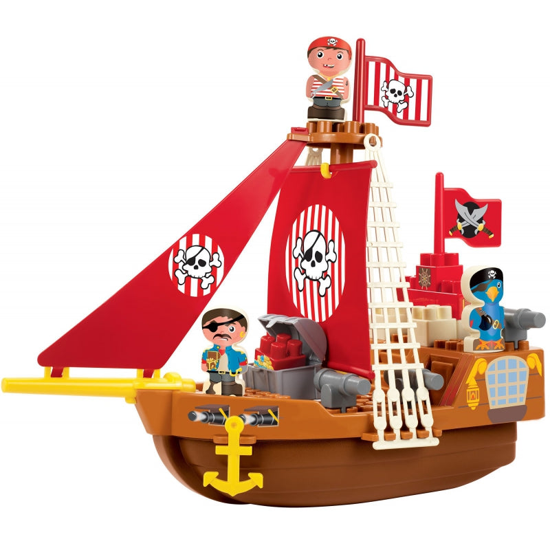 Ecoiffier Abrick Blocks  Pirate Ship - 23 pcs