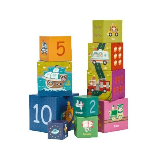 CLASSIC WORLD Transport Educational Cubes 10 pcs