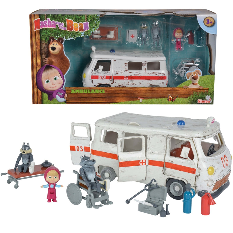 Simba Masha & Bear Ambulace Playset