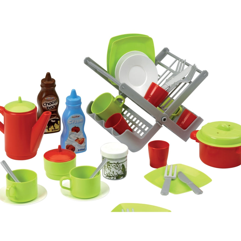 Smoby Ecoiffier Set Of Dishes With A Dryer
