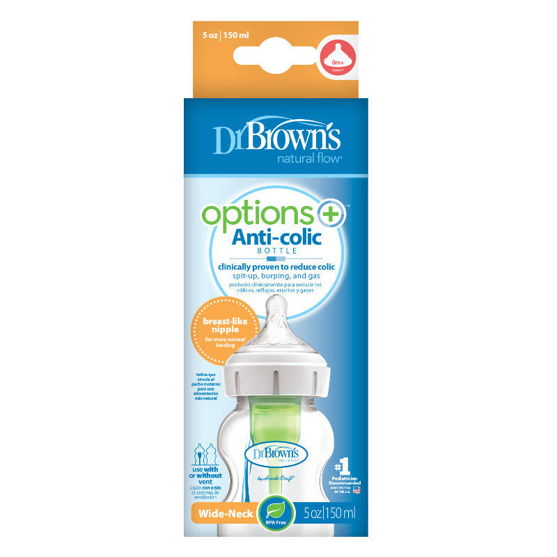 Dr. Brown's Wide-Neck Options+ Bottle 150 ml 0m+