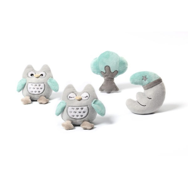 Babyono Universal baby mobile - Blue Owls