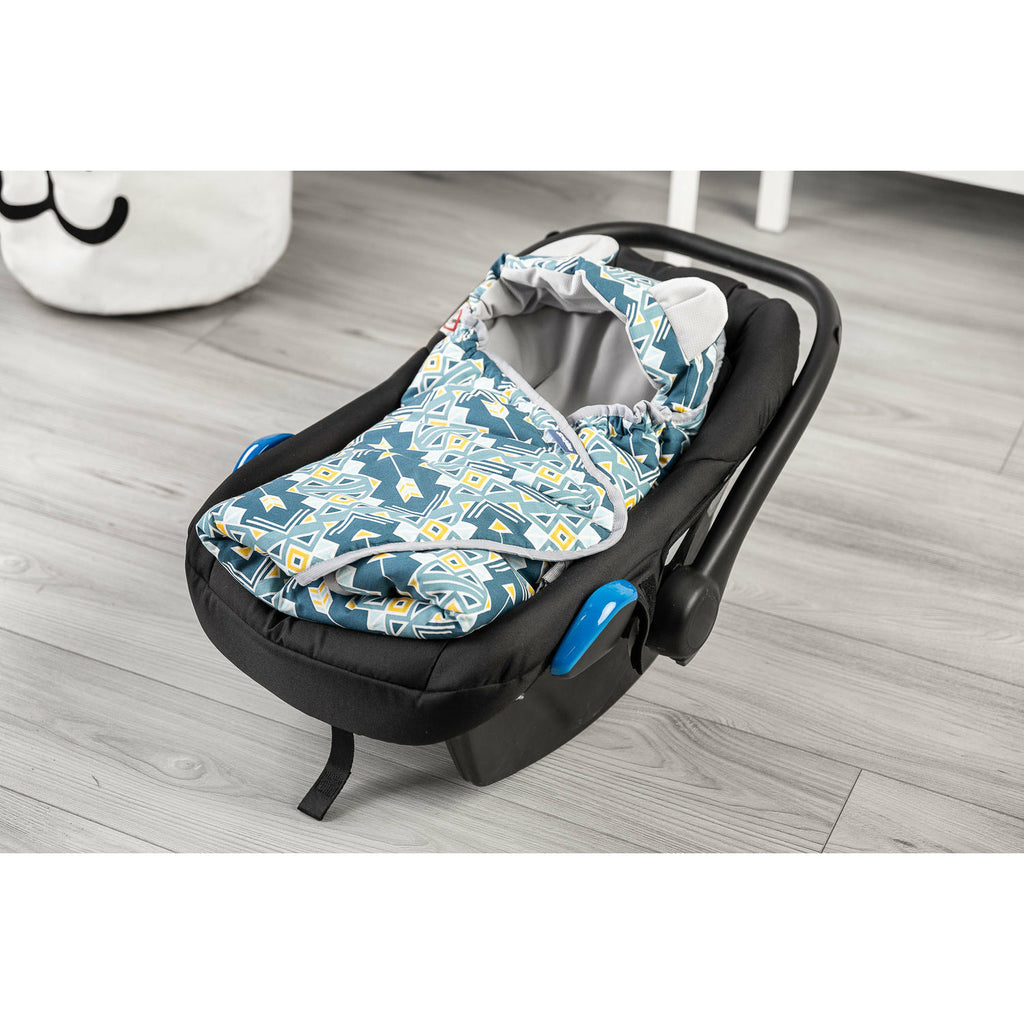 Sensillo Velvet Footmuff Car Seat Swaddle Blanket - Geometric