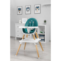 Caretero TUVA Feeding Highchair 2 in 1 - Dark Green