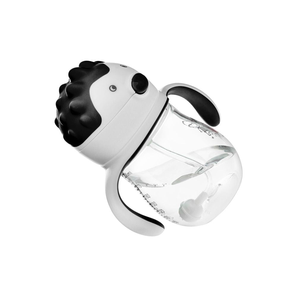AKUKU 360° Drinking bottle with a straw - Black
