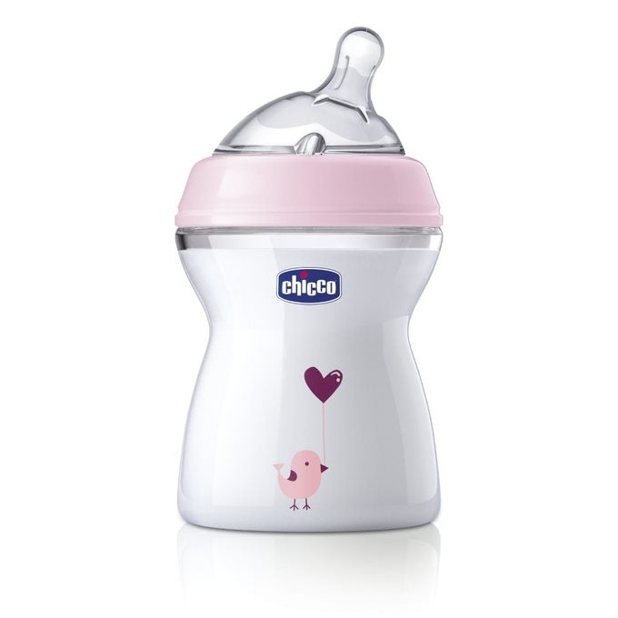 NEW! Chicco NaturalFeeding Bottle Gift Set 0m+ - Pink