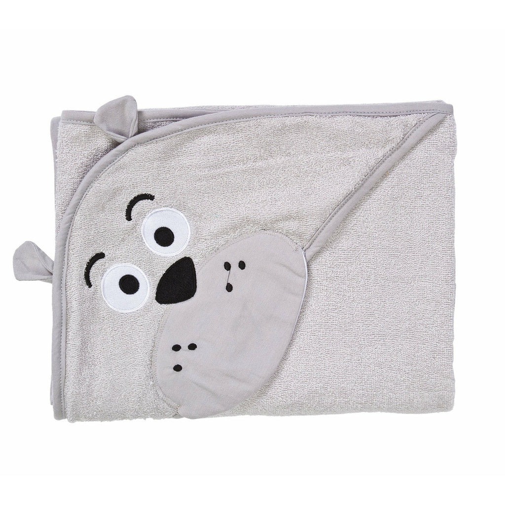 Soft hooded towel with 3D embroidery - Bear