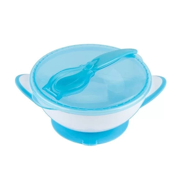 Babyono Bowl With A Suction And A Spoon - Blue